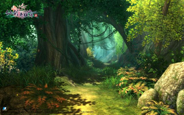 仙剑五场景图――树林