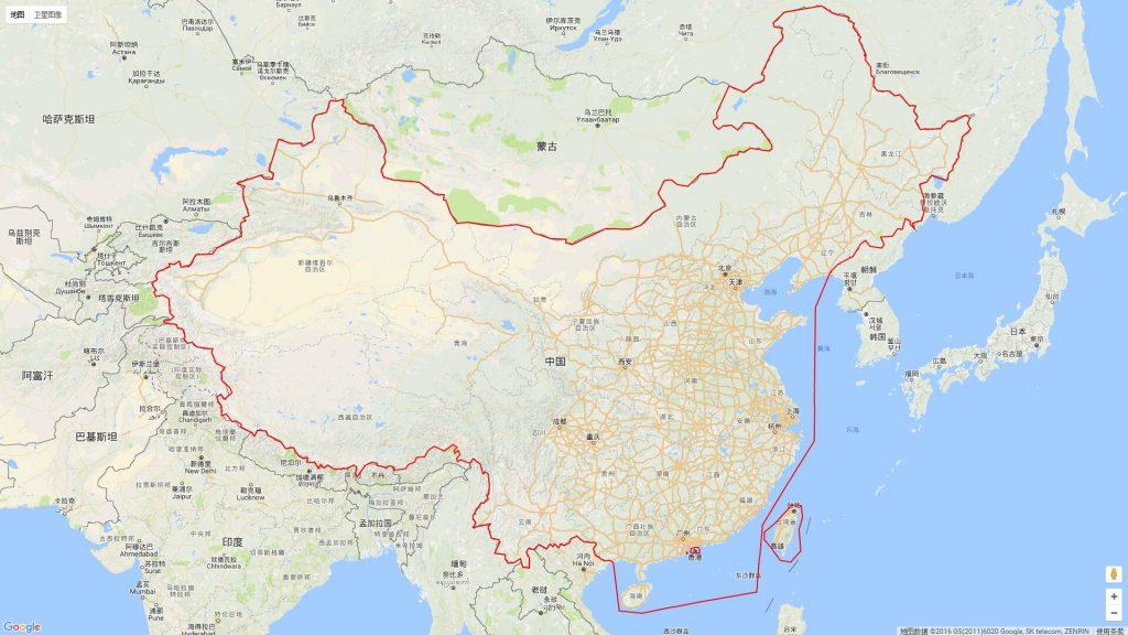 中国GPS坐标