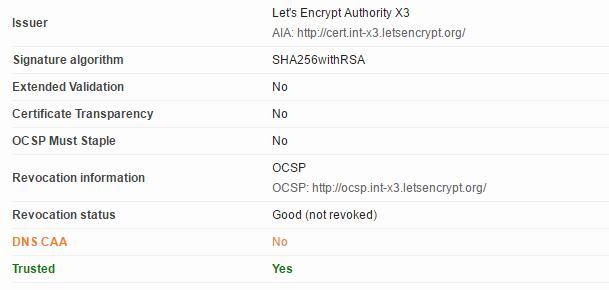 HTTPS 证书未添加 CAA记录