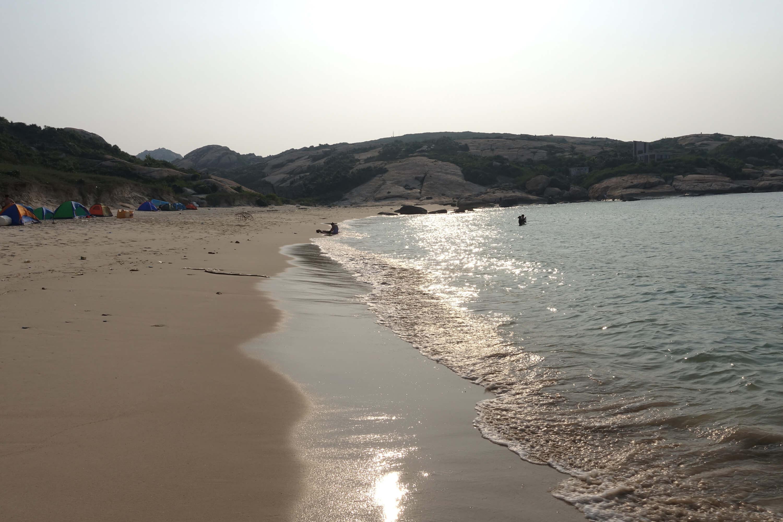 庙湾岛下午的海滩