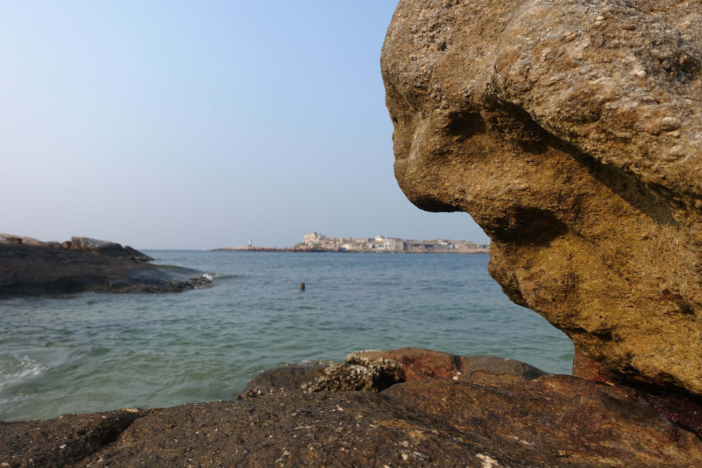 庙湾岛的小渔村