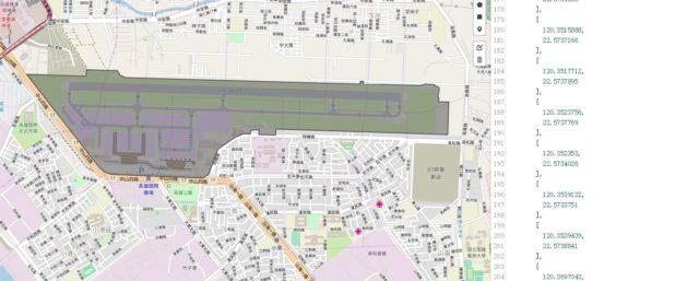 高雄机场地图边界的显示