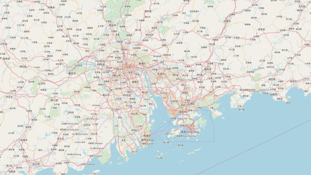 openstreet map 渲染效果图