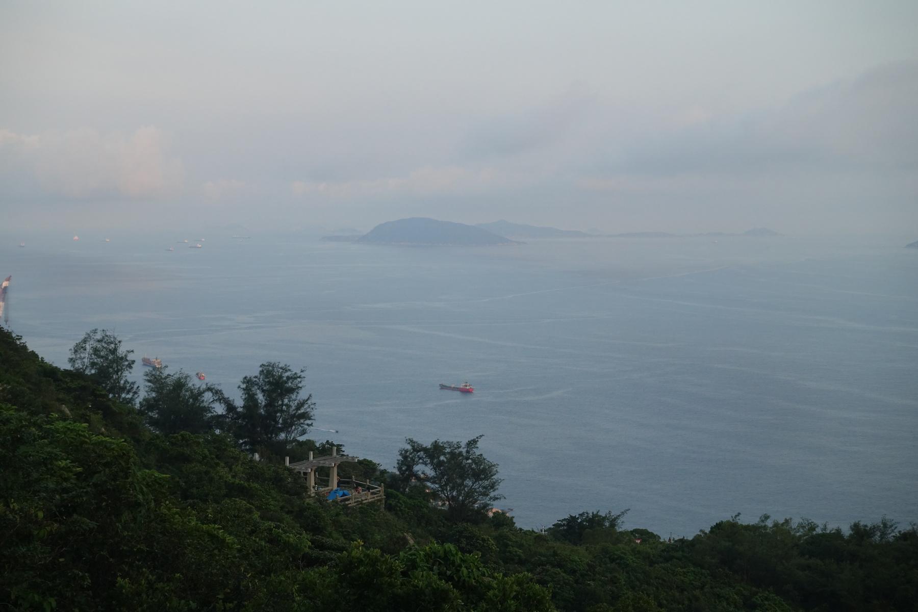 外伶仃岛 清晨海边的眺望